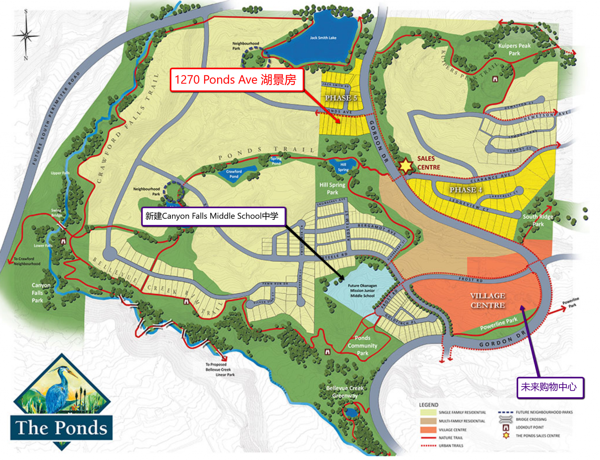 The Ponds Map